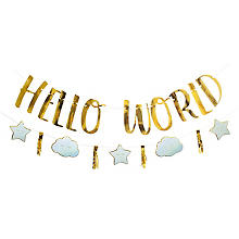 Girlanden-Set 'Hello World' in Blau