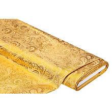 Jacquarad 'Blumen/Paisley', gelb/gold