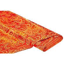 Jacquarad 'Blumen/Paisley', rot/gold