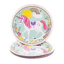 Pappteller 'Unicorn', Ø 23 cm, 8 Stück