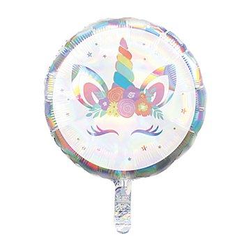 Ballon en film plastique 'licorne', 45 cm Ø