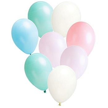 Ballons 'pastel', multicolore, 8 pièces