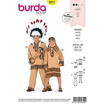 Patron burda 5812 'déguisement d'indien pour enfants'