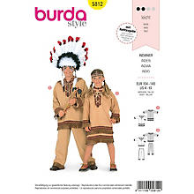burda Schnitt 5812 'Indianerkostüm für Junge oder Mädchen'