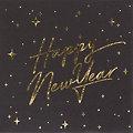 """Serviettes en papier """"Nouvel An"""", doré métallisé, 33 x 33 cm, 20 pièces"""