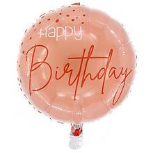 Ballon en film plastique 'Birthday', rosé