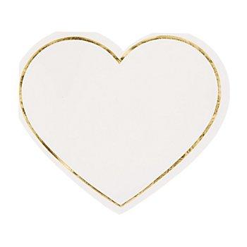 Serviettes en papier 'cœur', 14 x 12 cm, 20 pièces