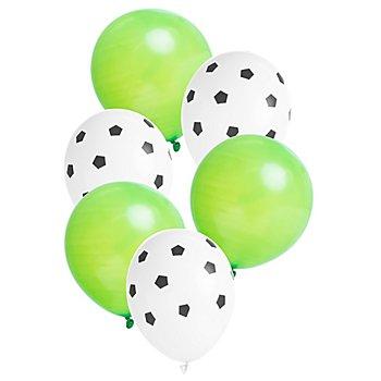 Ballons gonflables 'football', Ø 23 cm, 6 pièces