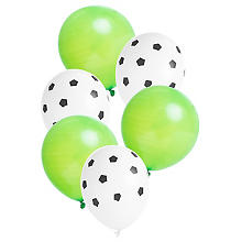 Luftballons 'Fussball', Ø 23 cm, 6 Stück
