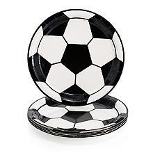 Assiettes en carton 'football', 6 pièces