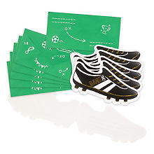Cartes d'invitation 'football', 6 pièces