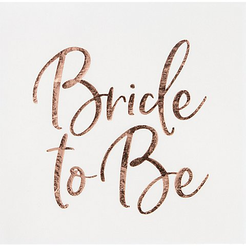 "Image of Papierserviette ""Bride to be"", 33 x 33 cm, 20 Stück"