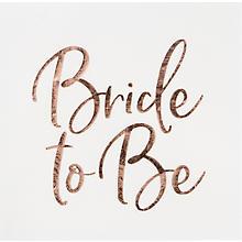 Papierserviette 'Bride to be', 33 x 33 cm, 20 Stück