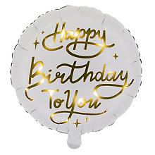 Folienballon 'Happy Birthday', Ø 35 cm
