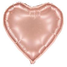Folienballon 'Herz', Ø 61 cm, rosé