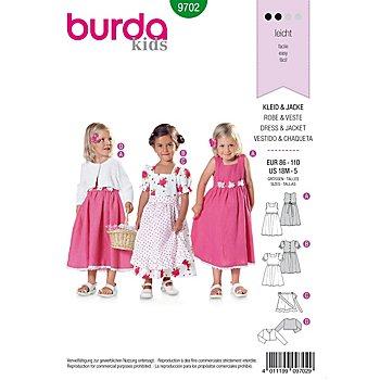 burda Schnitt 9702 'Kleid & Jacke' Landhauslook für Kleinkinder