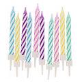 """Bougies d'anniversaire """"pastel"""", 10 pièces"""