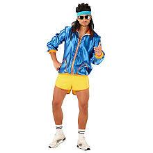 Kostüm 80er-Jahre-Boy, blau/gelb