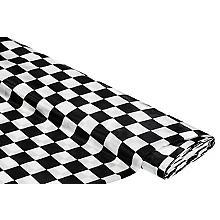 Tissu satin 'carreaux', noir/blanc