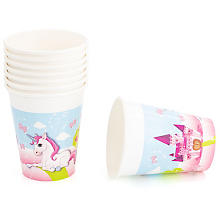 Pappbecher 'Unicorn', 200 ml, 8 Stück