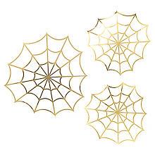 Papierdeko 'Spinnennetz', 3 Stück