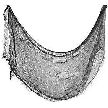 Zerfetztes Lumpentuch, schwarz, 60 x 300 cm