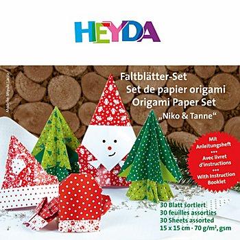 Heyda Faltblätter 'Niko & Tanne', 15 x 15 cm, 30 Blatt