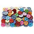 buttinette Boutons pour vestes, multicolore, 20 mm et 25 mm Ø, 100 pièces