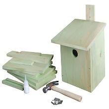 Kit créatif en bois 'nichoir', vert clair, 16 x 20 x 24,5 cm