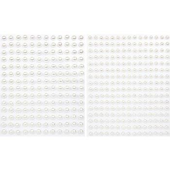 Set de demi-perles adhésives 'nacre'