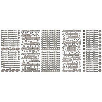 Stickers écritures, argenté