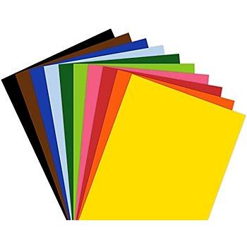 Tonzeichenpapier, bunt, 21 x 29,7 cm, 500 Blatt