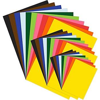 Set de papier à dessin teinté, multicolore, A3, A4, A5, 100 feuilles