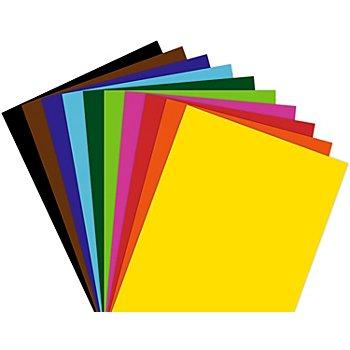 Tonzeichenpapier, bunt, 50 x 70 cm, 25 Blatt