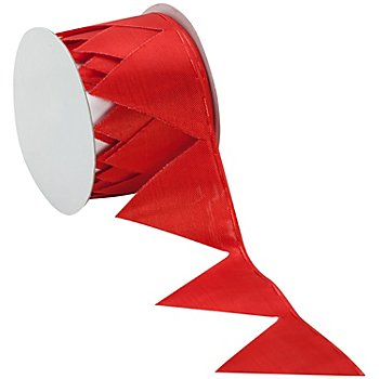 Stoffband Ziehstern, rot, 5 cm, 2,5 m
