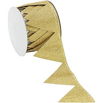 Ruban à froncer, doré, 5 cm, 2,5 m