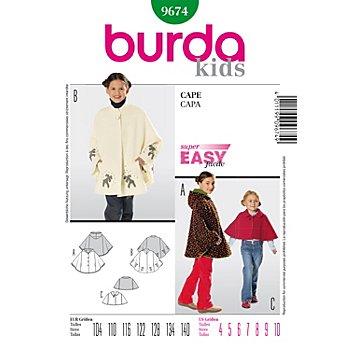 burda Schnitt 9674 'Cape' für Kinder