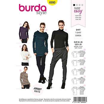 burda Patron 6990 'Shirt à manches longues'