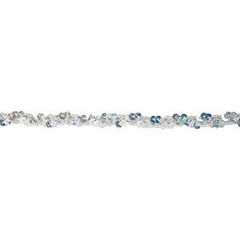 Metallic-Paillettenband, Hologramm, silber, Breite: 10 mm, Länge: 3 m