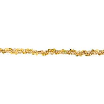 Metallic-Paillettenband, Hologramm, gold, Breite: 10 mm, Länge: 3 m