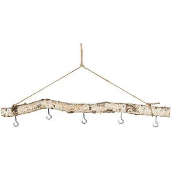 Branche de bouleau véritable, 5 crochets, env. 50 cm