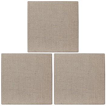 Keilrahmen-Set Leinengewebe, 3 Stück, 20 x 20 cm