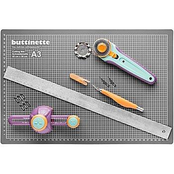 buttinette Set de découpe 'magnétique' avec tapis de découpe, 45 x 30 cm