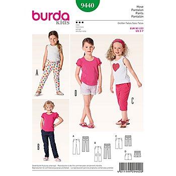 burda Schnitt 9440 'Hose' für Mädchen