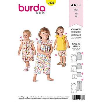 burda Patron 9435 'vêtements estivaux pour petits enfants'