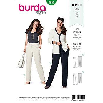 burda Patron 6952 'pantalons - grandes tailles'