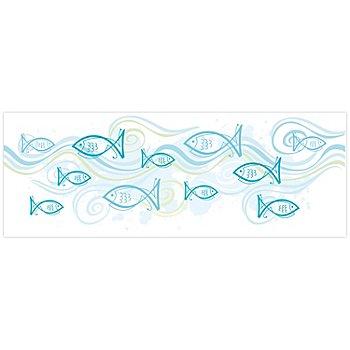 Ursus Bandes de papier transparent 'poissons', 10 x 27 cm, 5 bandes