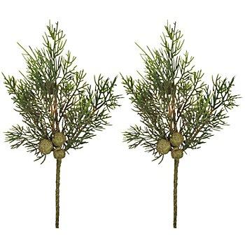 Zypressenzweige, 32 cm, 2 Stück