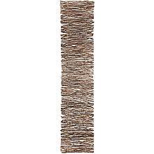 Tapis en petites branches de bois, 90 x 20 cm