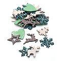 """Streuteile """"Weihnachten"""", 3,5 - 4 cm, 36 Stück"""
